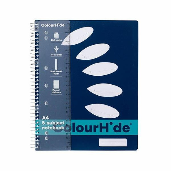 Colourhide Subject Book A4 250page Navy X CARTON of 5 1719627J