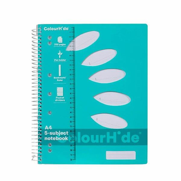 Colourhide Subject Book A4 250page Aqua X CARTON of 5 1719632J