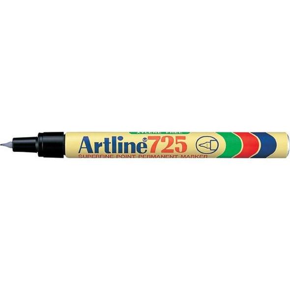 Artline 725 Permanent Marker 0.4mm Plastic Nib Black Hangsell X CARTON of 12 172561