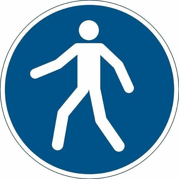 DURABLE Marking Sign Use Walkway Blue 173106