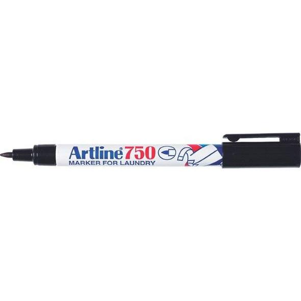 Artline 750 Laundry Marker 0.7mm Bullet Nib Black Disp 24 175051