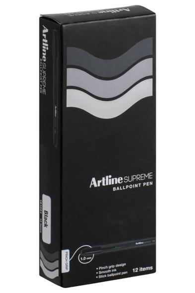 Artline Supreme Ballpoint Pen Black BOX12 181001