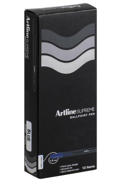 Artline Supreme Ballpoint Pen Blue BOX12 181003
