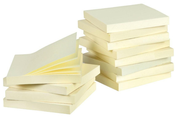 Marbig Notes 75x75mm Yellow Pack 12 X CARTON of 20 1810305