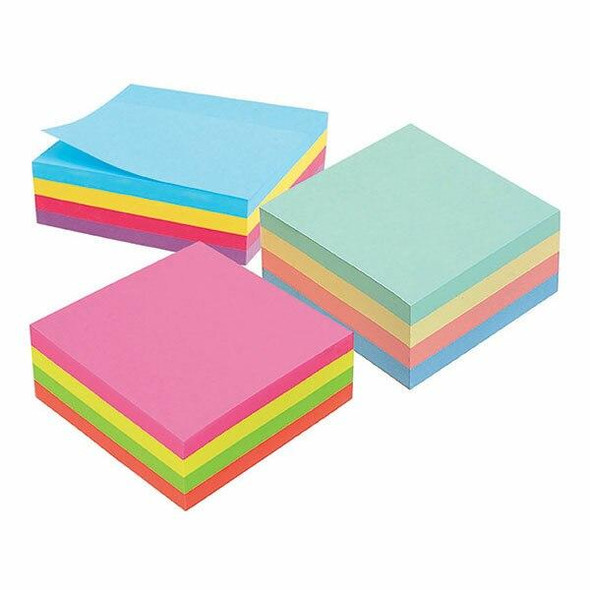 Marbig Notes Pastel Cube 75x75mm 400sht Assorted 400shtAssorted 1810899