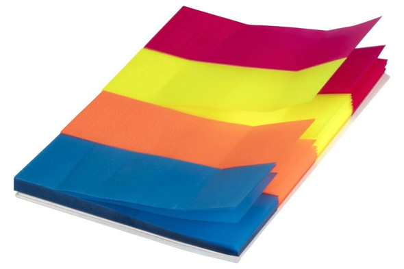 Marbig Notes Neon Trans page Marker 20x50mm Neon Trans page Marker 20x50mm X CARTON of 10 1811405