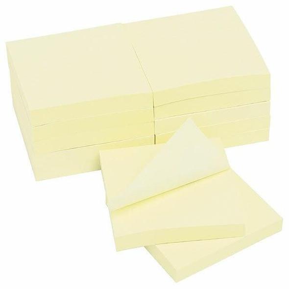 Marbig Notes Enviro 75x75mm Yellow 12Pack X CARTON of 20 1813205