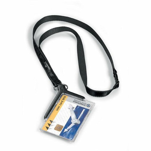 DURABLE Deluxe Card Holder With Necklace Retail Pack 1820758
