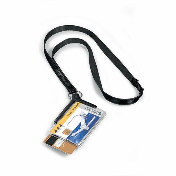 DURABLE Deluxe Duo Card Holder With Necklace Retail Pack 1820858