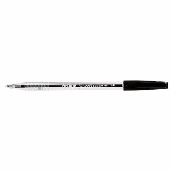 Artline Smoove Ballpoint Pen Medium Black BOX12 182101