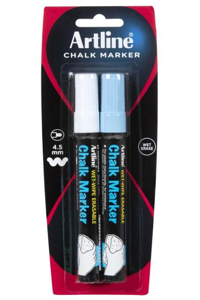Artline Chalk Marker 2mm Bullet Assorted 2Pack 183265