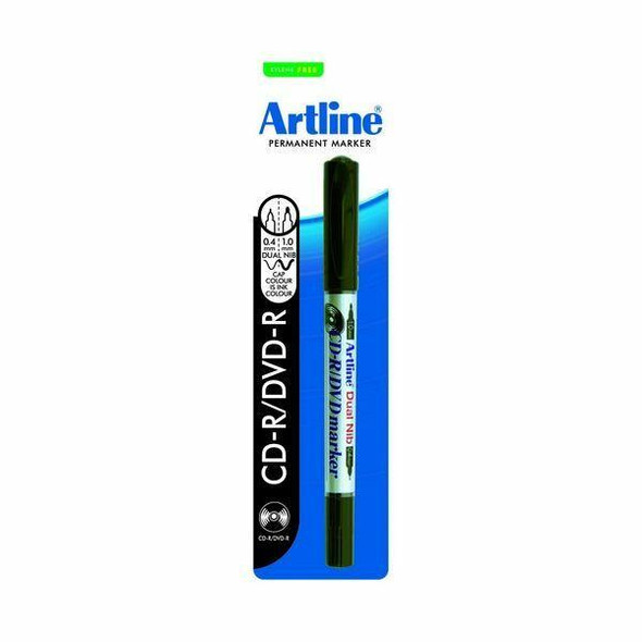 Artline 841t Cdr/Dvd Marker Dual Nib Black 1Pack X CARTON of 12 184171