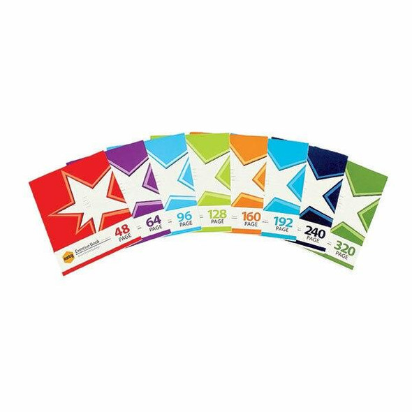 Marbig Star Exercise Book 9x7 128page X CARTON of 10 18514