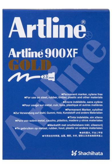 Artline 900 Metallic Permanent Marker 2.3mm Bullet Nib Gold BOX12 190031