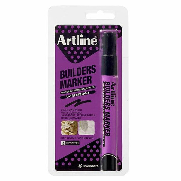 Artline Builders Permanent Marker Black Hangsell X CARTON of 12 195201HS