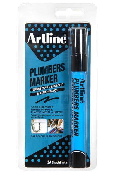 Artline Plumbers Permanent Marker Black Hangsell X CARTON of 12 195501HS