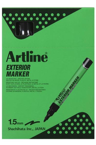 Artline Exterior Permanent Marker Black BOX12 195601B
