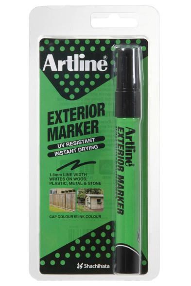 Artline Exterior Permanent Marker Black Hangsell X CARTON of 12 195601HS