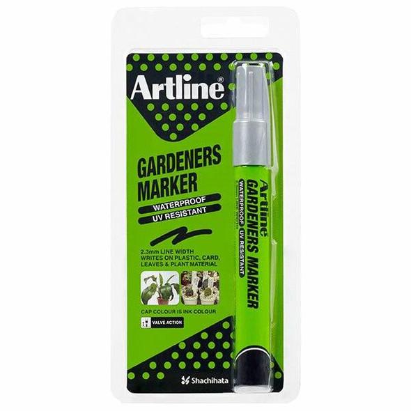 Artline Gardeners Permanent Marker Silver Hangsell X CARTON of 12 195762HS