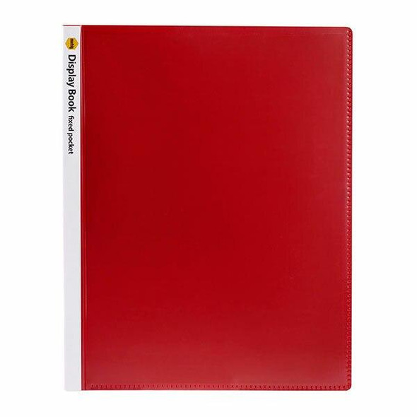 Marbig Display Book W/Insert Cover Non-Refillable 40 Pages Red X CARTON of 10 2003603