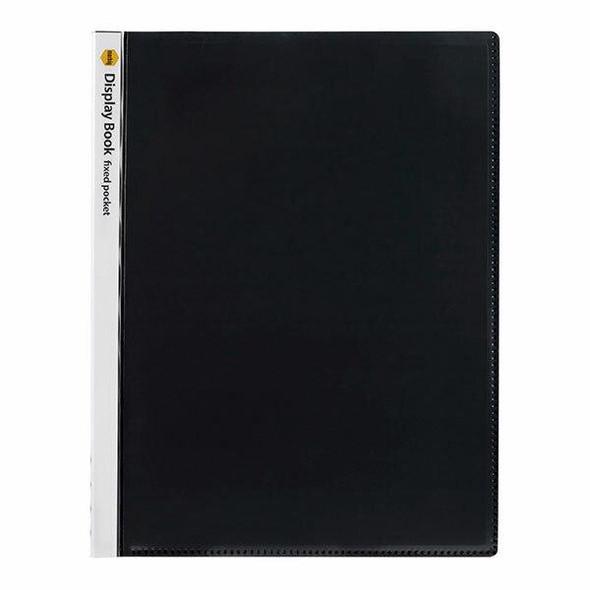 Marbig Non-Refillable Display Book 20 Pocket Insert Cover Black X CARTON of 80 2003712