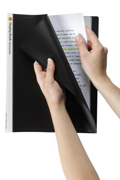 Marbig Non-Refillable Display Book 20 Pocket Black X CARTON of 10 2003802