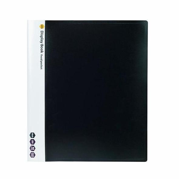Marbig Non-Refillable Display Book 40 Pocket Black X CARTON of 10 2003902