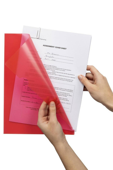 Marbig Letter File A4 Red X CARTON of 100 2004003