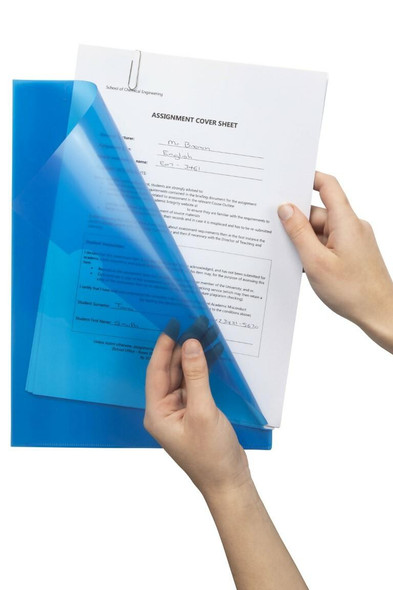Marbig Letter File A4 Ultra Blue X CARTON of 100 2004301