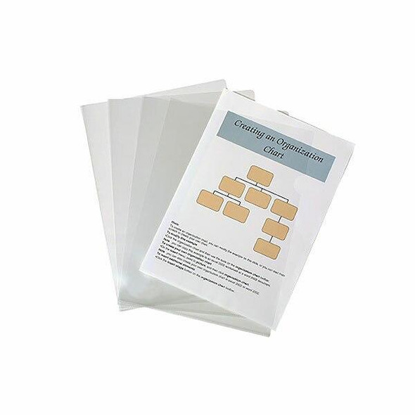 Marbig Letter File A4 Clear Pack10 X CARTON of 10 2004912