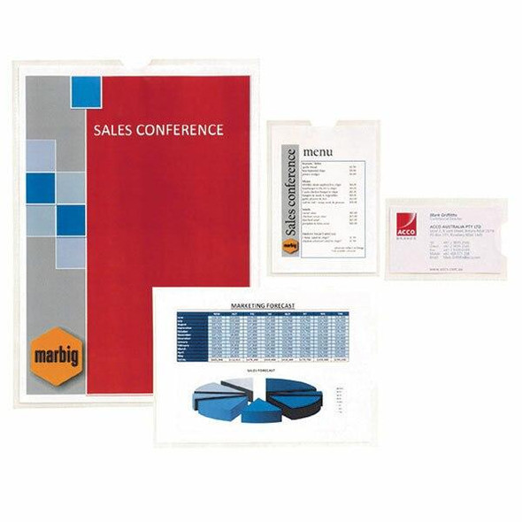 Marbig Card Holders A4 Pack10 X CARTON of 10 2006000
