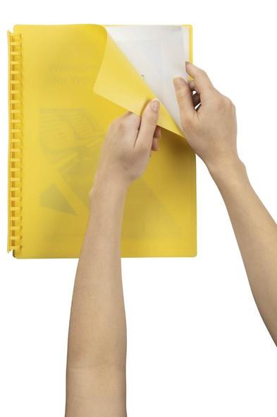 Marbig Refillable Display Book 20 Pocket Yellow X CARTON of 12 2007005