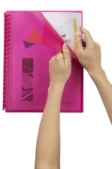 Marbig Refillable Display Book 20 Pocket Pink X CARTON of 12 2007309