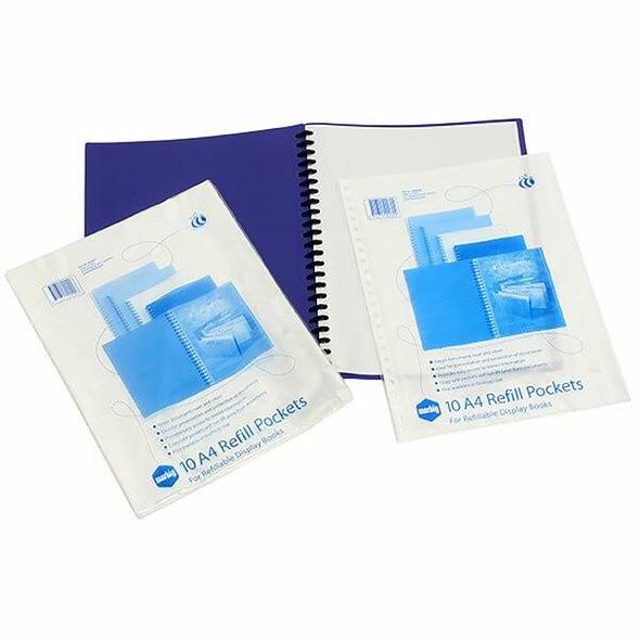 Marbig Display Book Refills Pack Of 100 X CARTON 8 20081P