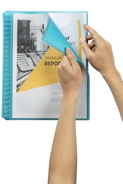 Marbig Refillable Display Book 20 Pocket Insert Cover Marine X CARTON of 12 2008501