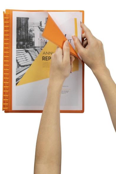 Marbig Refillable Display Book 20 Pocket Insert Cover Orange X CARTON of 12 2008506