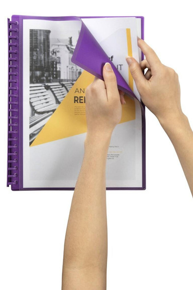 Marbig Refillable Display Book 20 Pocket Insert Cover Purple X CARTON of 12 2008519