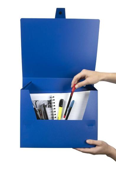 Marbig Box File A4 60mm Blue X CARTON of 10 2009801