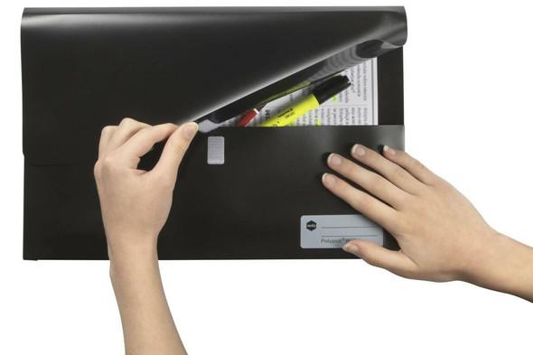 Marbig Polypick Foolscap Document Wallet Black X CARTON of 12 2011002