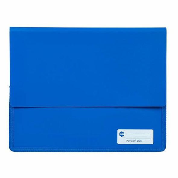 Marbig Polypick A4 Heavy Duty Document Wallet Blue X CARTON of 5 2011501