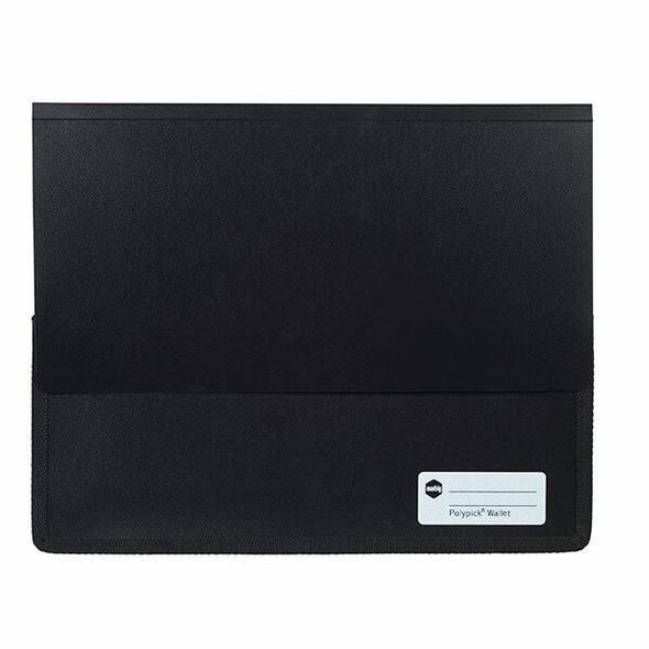 Marbig Polypick A4 Heavy Duty Document Wallet Black X CARTON of 5 2011502