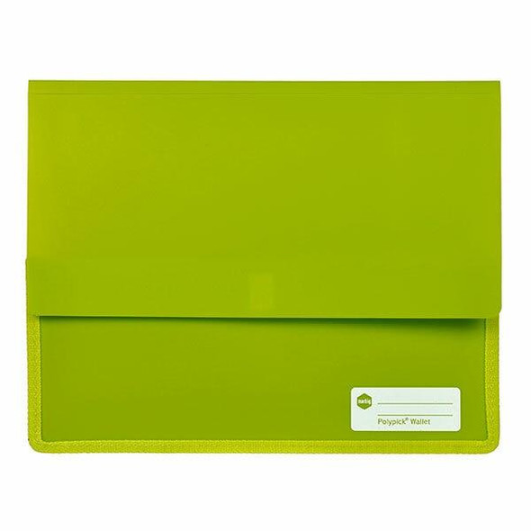 Marbig Polypick A4 Heavy Duty Document Wallet Lime X CARTON of 5 2011504