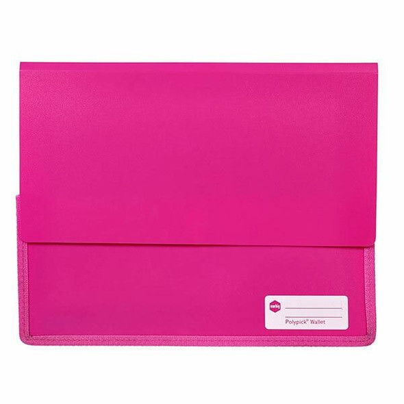 Marbig Polypick A4 Heavy Duty Document Wallet Pink X CARTON of 5 2011509