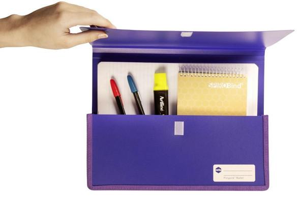 Marbig Polypick A4 Heavy Duty Document Wallet Purple X CARTON of 5 2011519