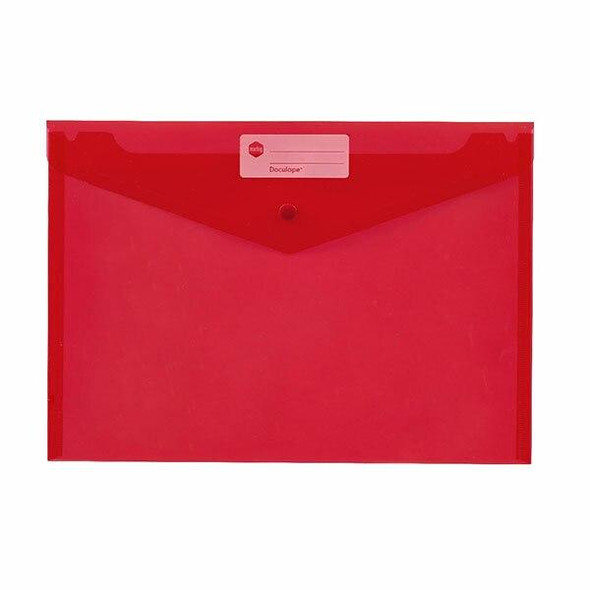 Marbig Doculope Document Wallet A4 Red X CARTON of 10 2015003