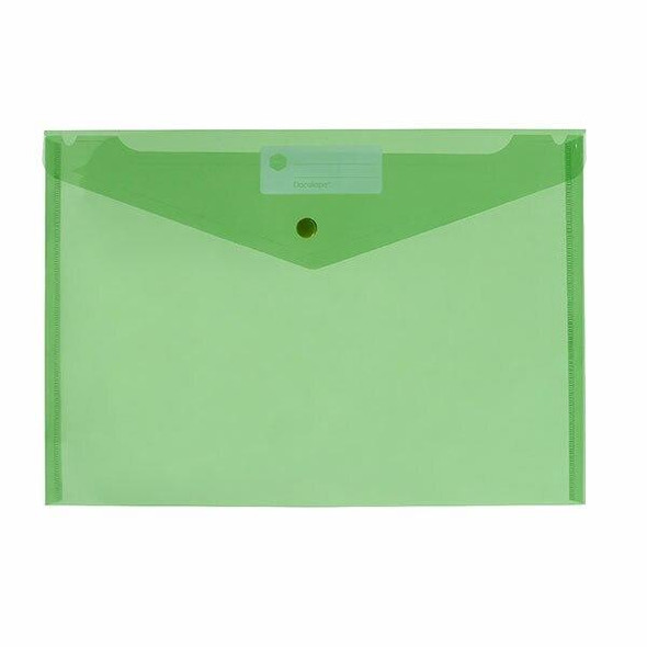 Marbig Doculope Document Wallet A4 Green X CARTON of 10 2015004
