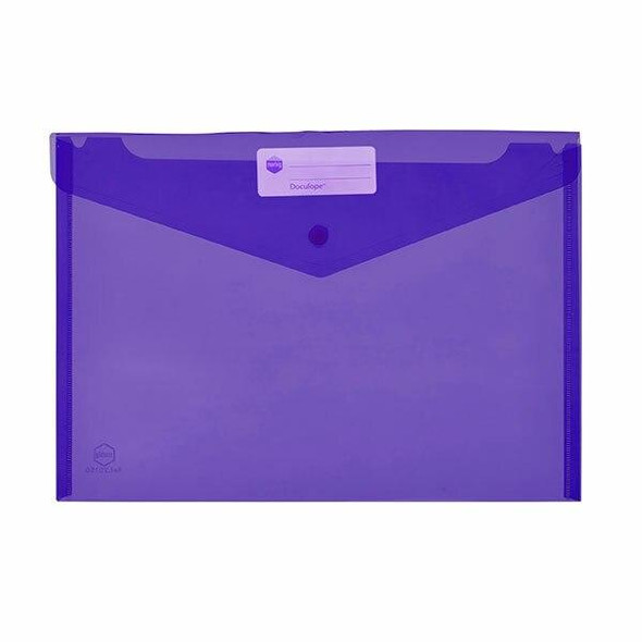 Marbig Doculope Document Wallet A4 Purple X CARTON of 10 2015019