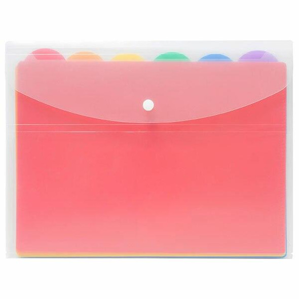 Marbig Document Wallet6 Files Brights X CARTON of 6 2015096