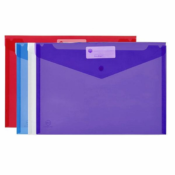 Marbig Doculope Document Wallet A4 Assorted X CARTON of 10 2015099