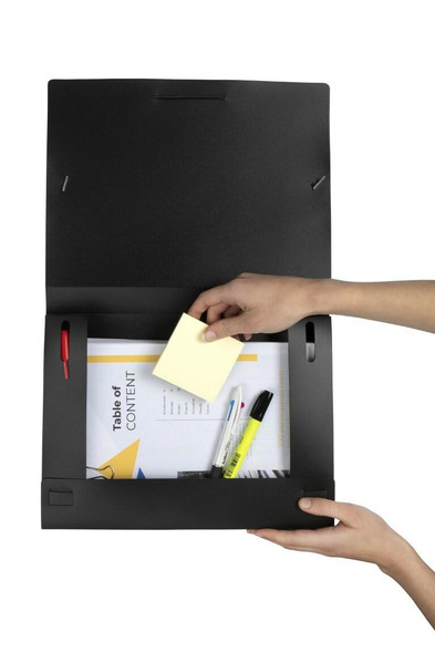 Marbig Document Box A4 Black X CARTON of 10 2019902